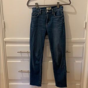 L'agence sada cropped jeans in blue size 23